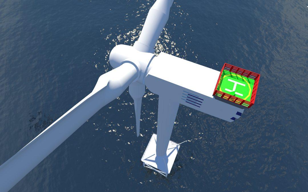 Virtuelle Offshore-Windenergieanlage